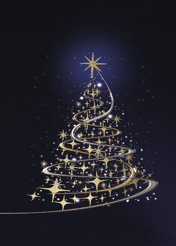 goldener sternenbaum weihnachtskarten vom. Black Bedroom Furniture Sets. Home Design Ideas
