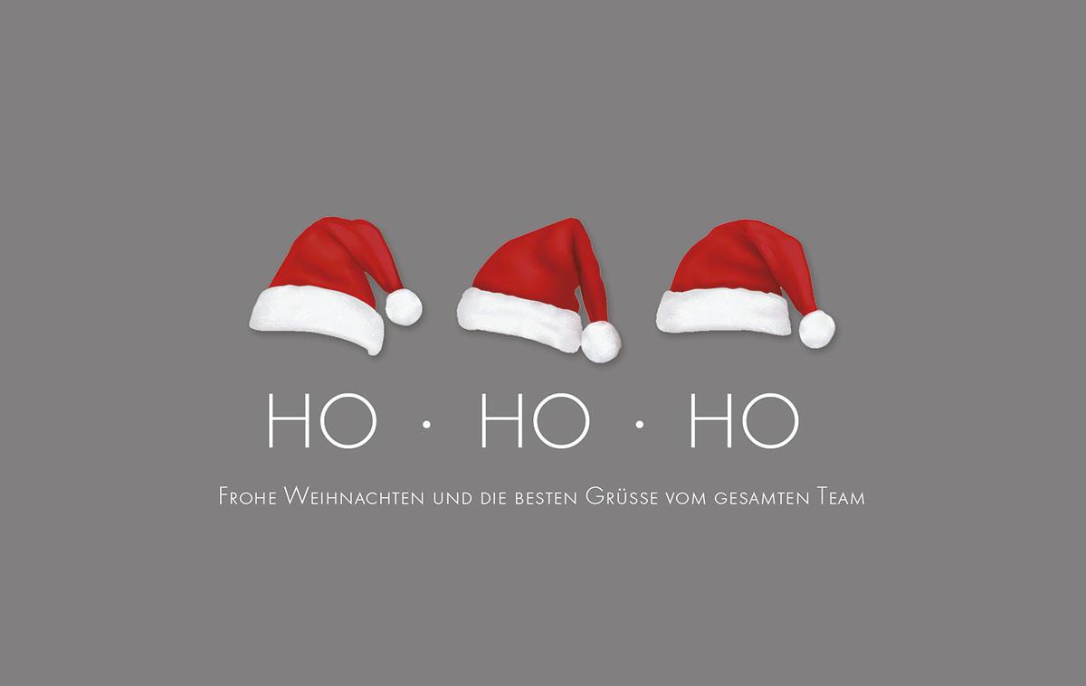 Ho Ho Ho Frohe Weihnachten.3 X Ho Weihnachtskarten Vom Weihnachtskartenshop Der