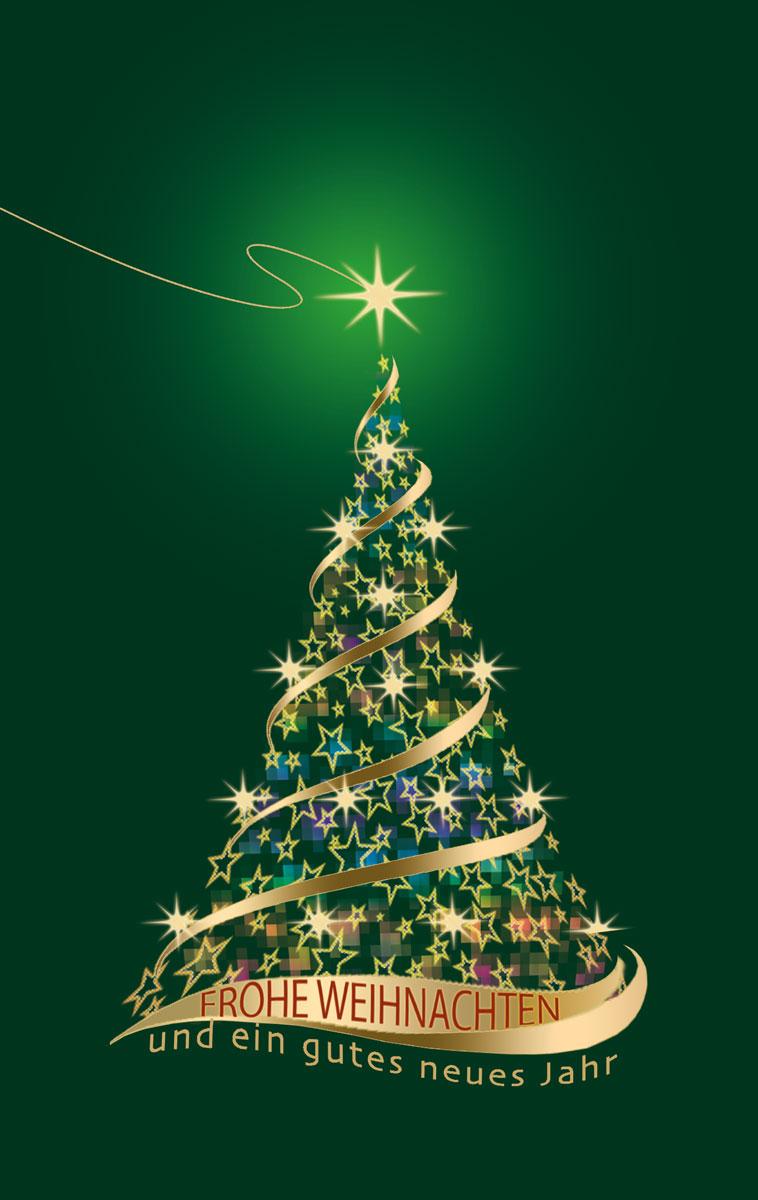 Grün und Gold funkelt´s - Weihnachtskarten vom Weihnachtskartenshop ...