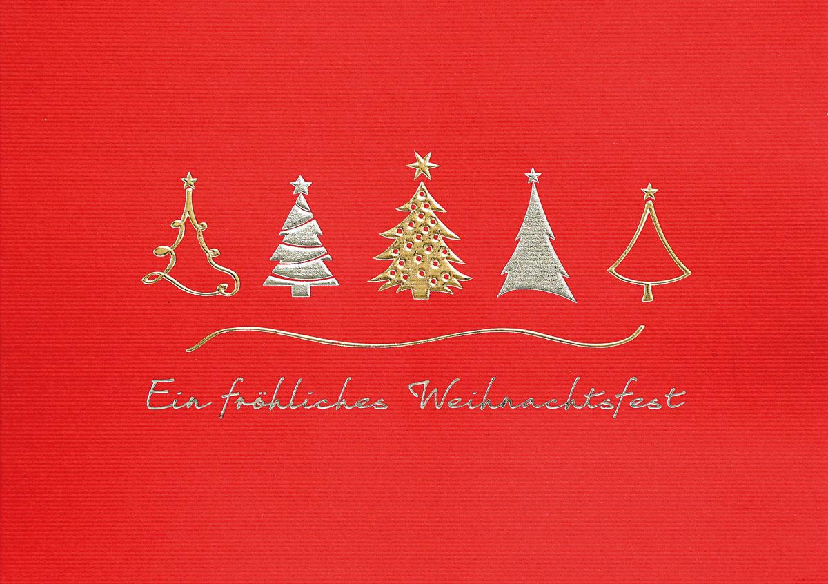Einlegeblätter Für Weihnachtskarten.Fünf Auf Rot Weihnachtskarten Vom Weihnachtskartenshop Der