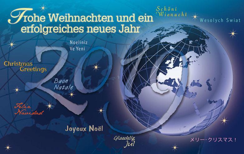 Weihnachtskarte: International 2019